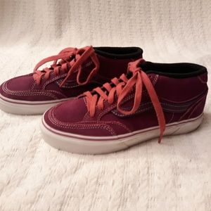 Vans Holden Mid top purple suede skater shoes